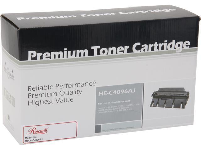 Rosewill RTCA-C4096AJ Extended Yield Black Toner Replaces HP 96A C4096A