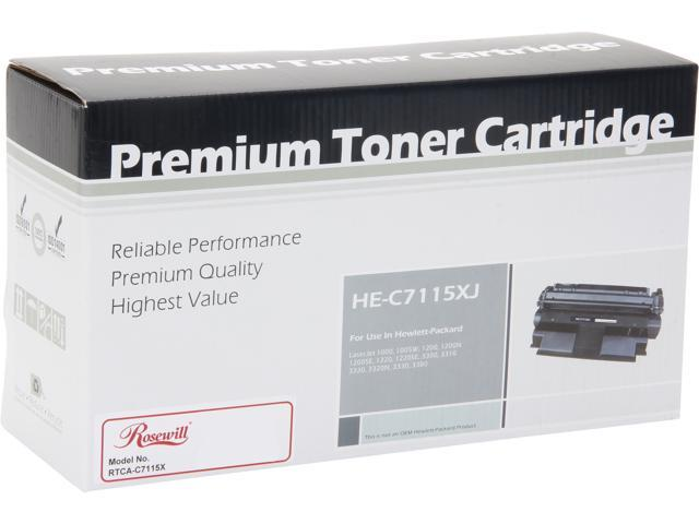 Rosewill RTCA-C7115XJ Extended Yield Black Toner Replaces HP 15X C7115X 15A C7115A
