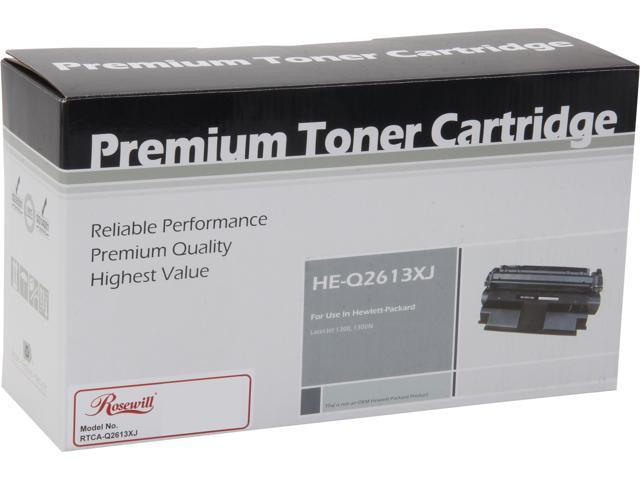 Rosewill RTCA-Q2613XJ Extended Yield Black Toner Replaces HP 13X Q2613X 13A Q2613A