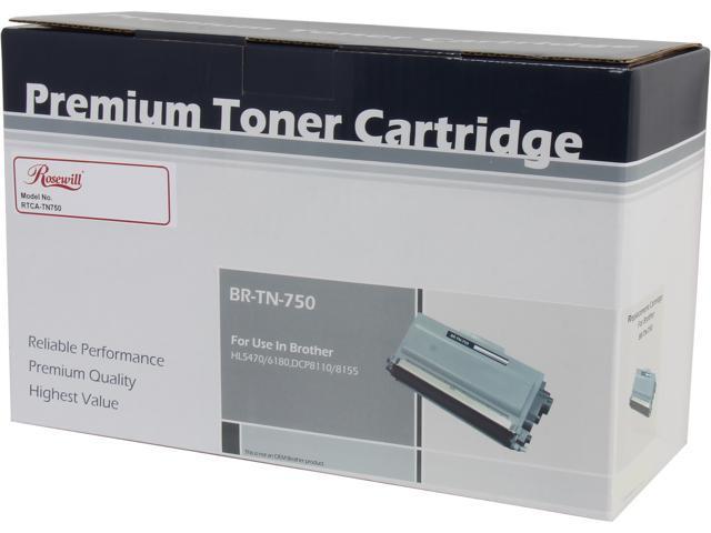 Rosewill RTCA-TN750 High Yield Black Toner Replaces Brother TN-750 TN750 TN-720 TN720