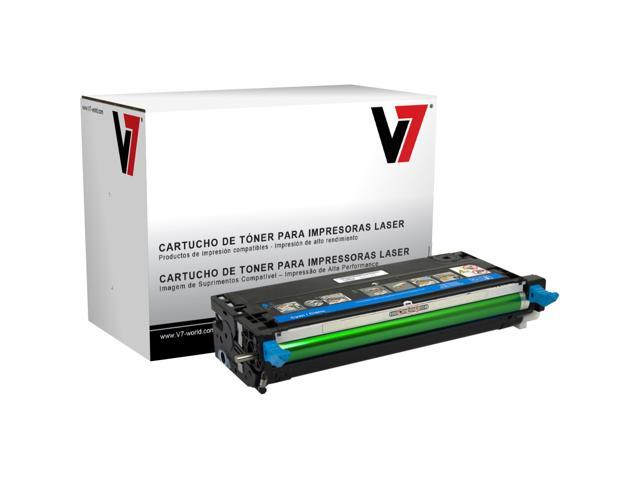 V7 Cyan High Yield Toner Cartridge for Dell 3110cn