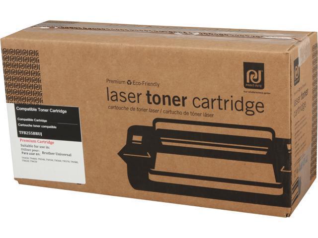 Print-Rite TFB255BRUJ High Yield Black Toner Replaces Brother TN-580 TN580 TN-550 TN550