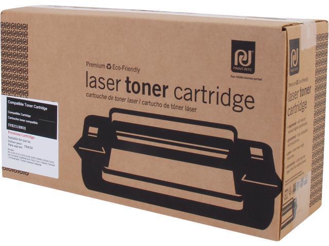 Print-Rite TFB251BRUJ High Yield Black Toner Replaces Brother TN-450 TN450 TN-420 TN420