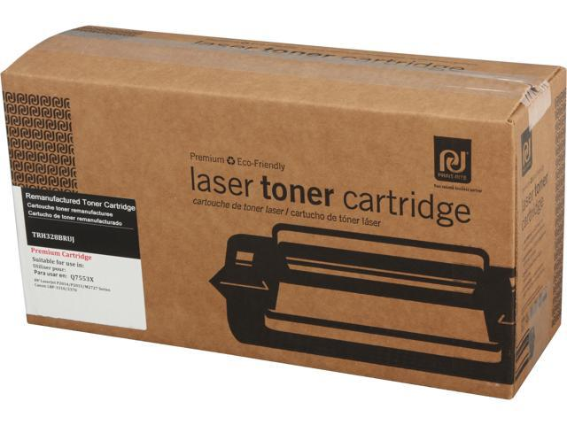 Print-Rite TRH328BRUJ High Yield Black Toner Replaces HP 53X Q7553X 53A Q7553A