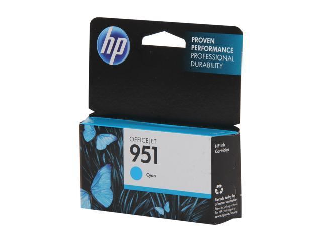 HP 951 Officejet Ink Cartridge 700 page yield for OfficeJet Pro 8100, 8600 (CN050AN) - Cyan