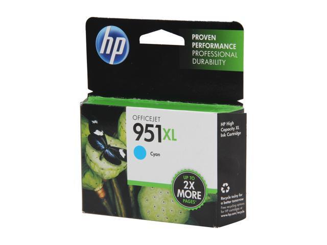 HP 951XL High Yield Cyan Ink Cartridge (CN046AN#140)