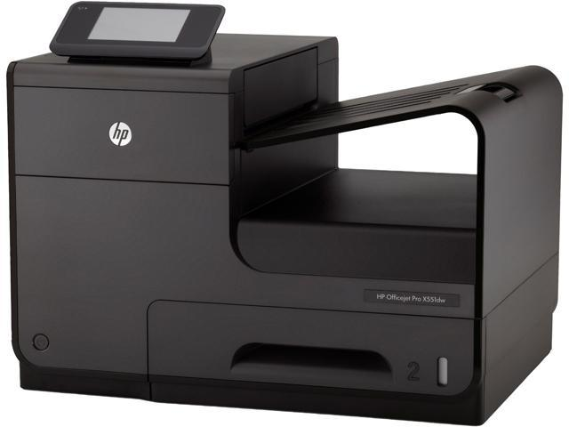 HP Officejet Pro X551dw Up to 70 ppm Black Print Speed 2400 x 1200 dpi Color Print Quality Wireless InkJet Workgroup Color Printer