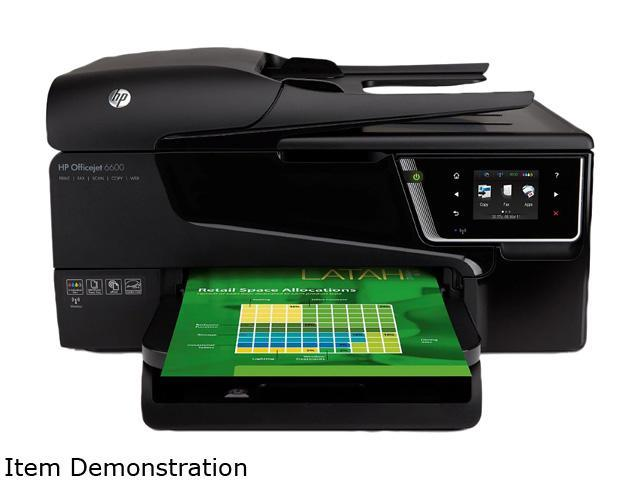 HP Officejet 6600 H711A Up to 32 ppm Black Print Speed Wireless InkJet Photo Color Printer