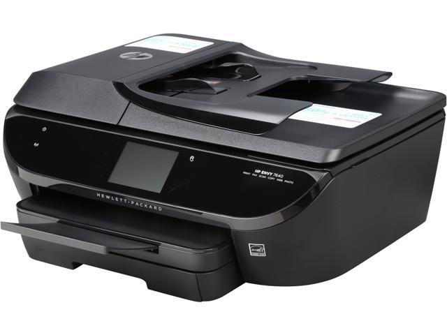 HP Envy 7640 Up to 14 ppm Black Print Speed 4800 x 1200 dpi Color Print Quality 2 x USB 2.0, 1 x Wi-Fi 802.11 ...