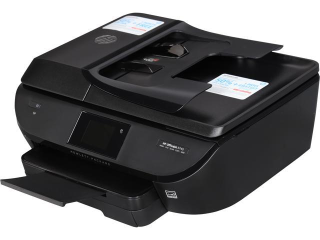 HP Officejet OJ5740 Up to 12 ppm Black Print Speed 4800 x 1200 dpi Color Print Quality 2 x USB 2.0, 1 x Wi-Fi 802.11 ...