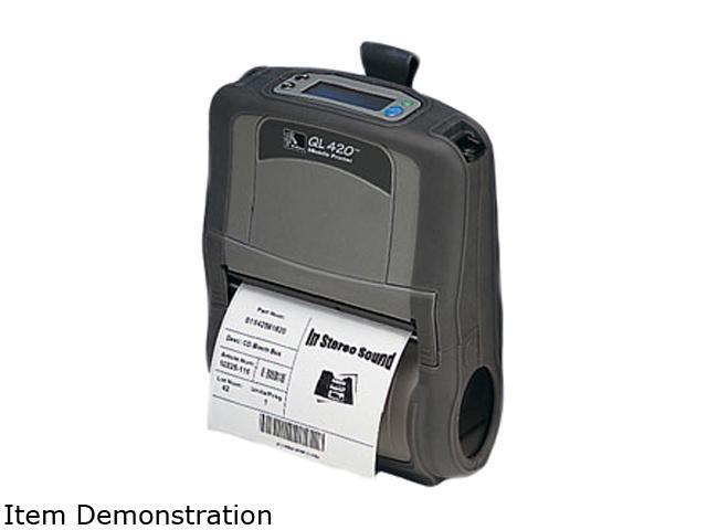 Zebra QL 420 Plus Direct Thermal Printer - Monochrome - Mobile - Label Print