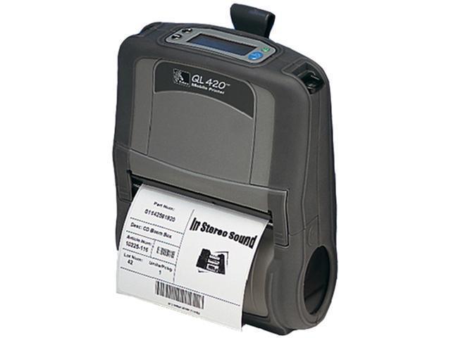 Zebra QL 420 Plus Direct Thermal Printer - Monochrome - Mobile - Receipt Print