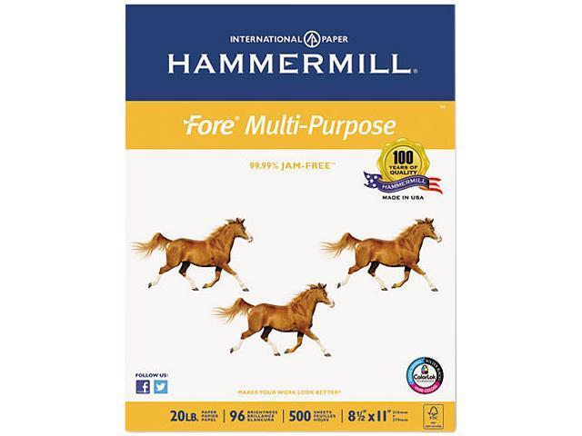 Hammermill 10326-7 Fore MP Multipurpose Paper, 96 Brightness, 20lb, 8-1/2x11, White, 5000/Carton