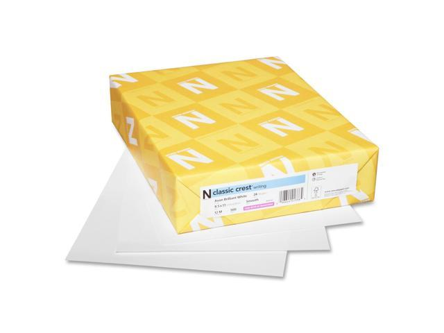 Neenah Paper Classic Crest Stationery Writing Paper, 24-lb, 8-1/2 x 11, Natural White, 500/Rm