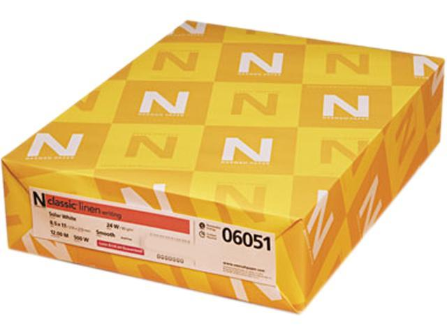 Neenah Paper Classic Linen Stationery Writing Paper, 24-lb., 8-1/2 x 11, Solar White, 500/Rm