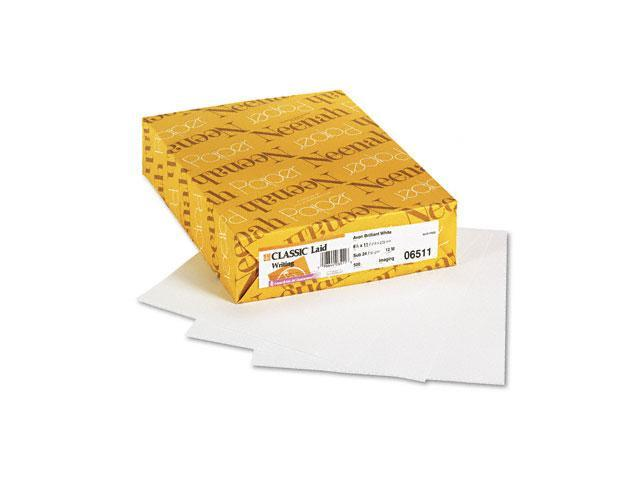 Neenah Paper Classic Laid Stationery Writing Paper, 24-lb., 8-1/2 x 11, Avon White, 500/Ream