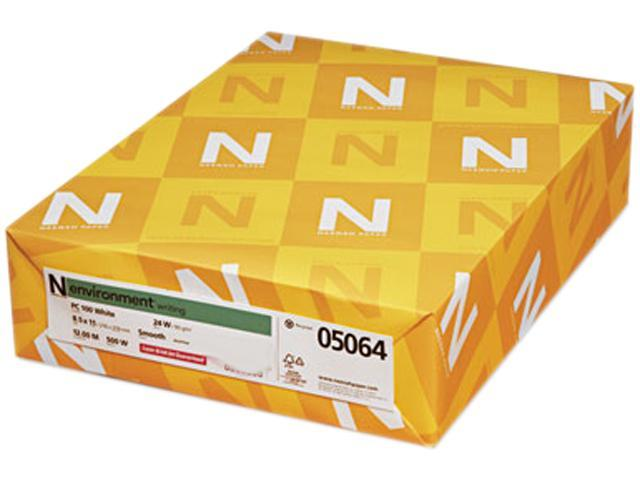 Neenah Paper 05064 Environment Stationery Paper, 100% Recy., 24-lb, 8-1/2 x 11, PC100 White, 500/Rm