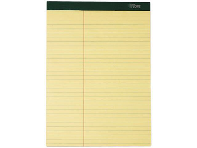 Tops 63396 Double Docket Ruled Pads, Law Rule, Letter, Canary, 6 100-Sheet Pads/Pack