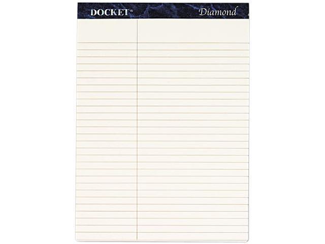 Tops 63983 Docket Diamond Law Ruled Pads, 8-1/2 x 11-3/4, Ivory, 2 50-Sheet Pads/Box