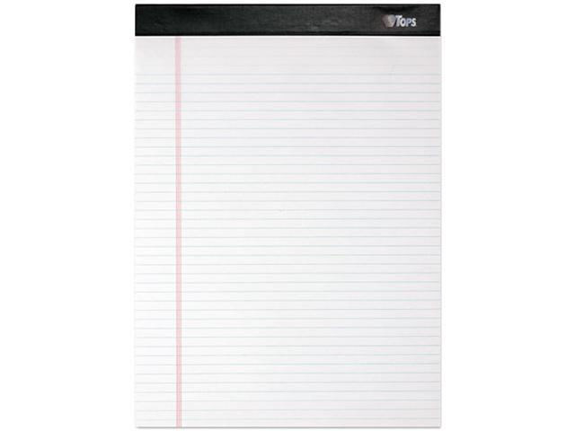 Tops 99612 Double Docket Ruled Pads, Narrow Rule, Ltr, White, 4 100-Sheet Pads/Pack