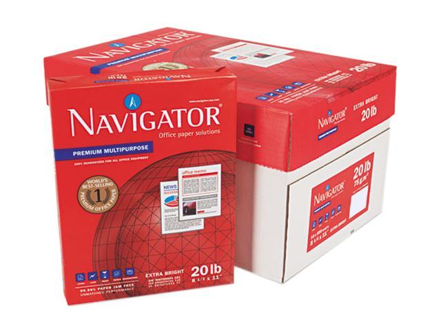 Navigator NMP1120 Premium Multipurpose Paper, 97 Brightness, 20lb, 8-1/2x11, White, 5000/Carton