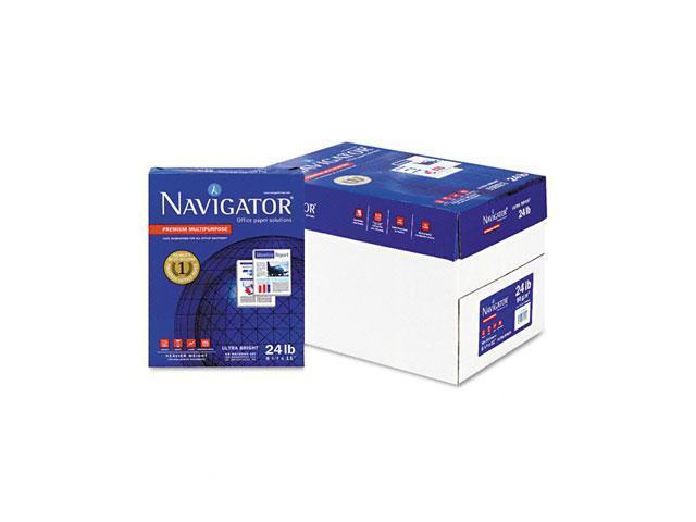 Navigator NMP1124 Premium Multipurpose Paper, 99 Brightness, 24lb, 8-1/2 x 11, White, 5000/Carton