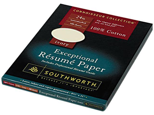 Southworth R14ICF 100% Cotton Resume Paper, Ivory, 24 Lbs