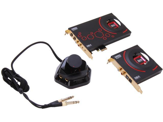 Creative Sound Blaster ZxR PCIe 124dB SNR Sound Card with 600ohm Headphone Amp and Desktop Audio Control Module