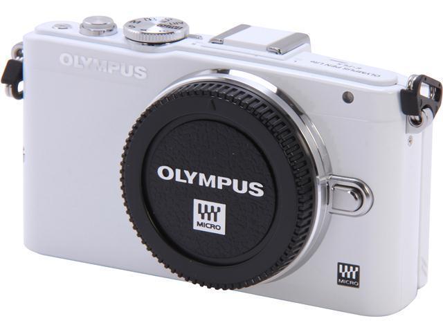 OLYMPUS E-PL5 V205040WU000 White 16.1 MP 3.0