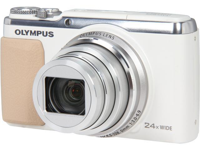 OLYMPUS SH-50 iHS V107050WU000 White 16 MP 24X Optical Zoom Wide Angle Digital Camera HDTV Output