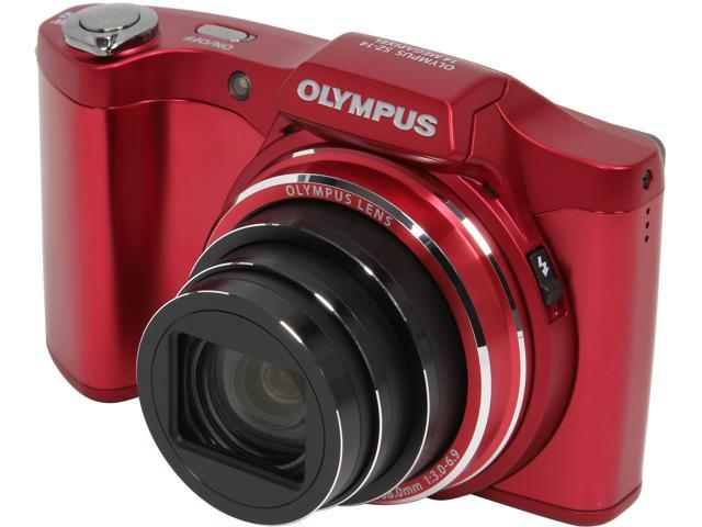OLYMPUS Stylus SZ-14 V102080RU000 Red 14 MP 24X Optical Zoom Digital Camera