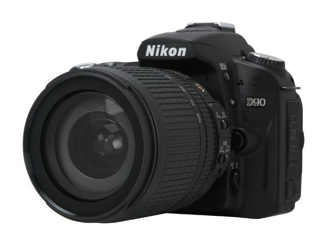 Nikon D90 Black 12.3 MP Digital SLR Camera w/ AF-S DX NIKKOR 18-105mm f/3.5-5.6G ED VR Lens