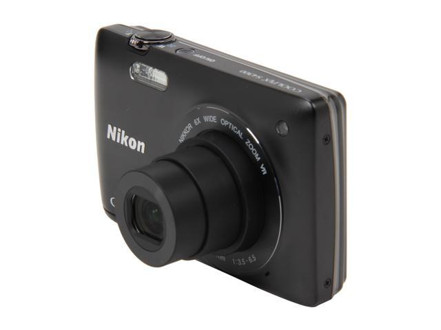 Nikon Coolpix S4300 26305 Black 16MP 6X Optical Zoom 26mm Wide Angle Digital Camera