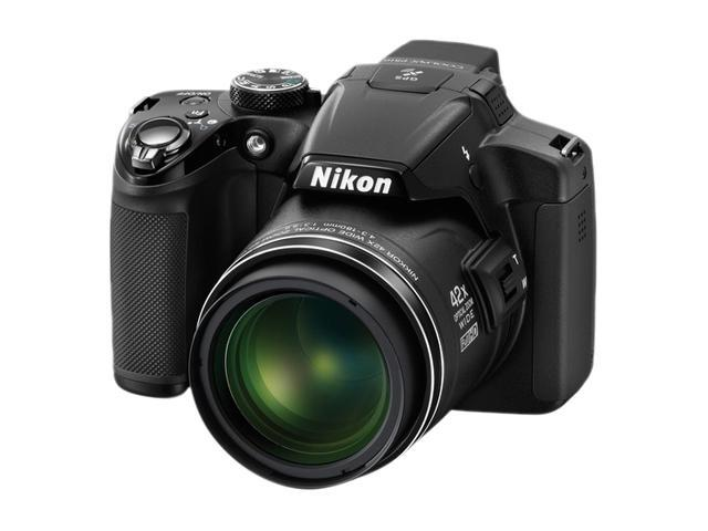 Nikon Coolpix P510 26329 Black 16.1 MP 42X Optical Zoom 24mm Wide Angle Digital Camera HDTV Output