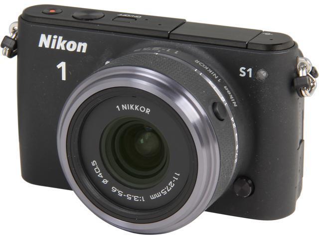 Nikon 1 S1 (27617) Black Mirrorless Digital Camera with 11-27.5mm Lens
