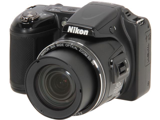 Nikon COOLPIX L820 26402 Black 16 MP 30X Optical Zoom Digital Camera