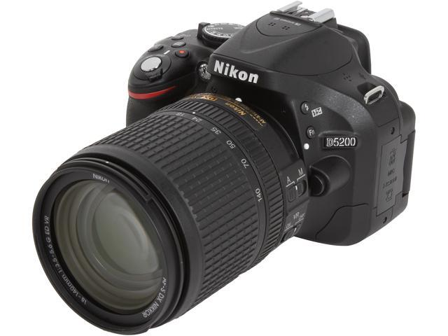 Nikon D5200 13311 Black Digital SLR w/ 18-140mm VR Lens