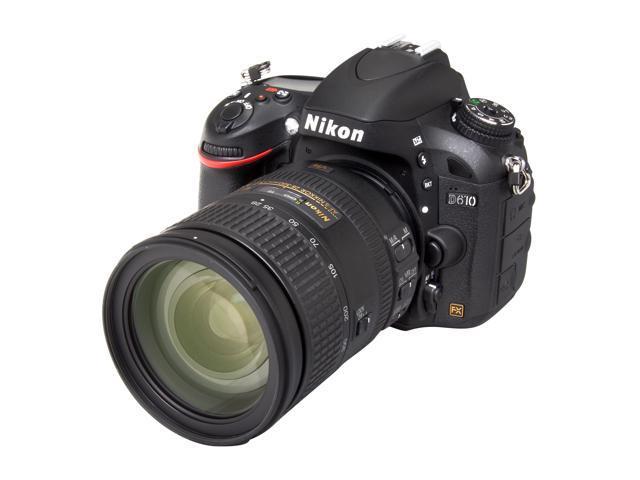 Nikon D610 13304 Black 24.3 MP Digital SLR Camera Kit w/ 28-300mm VR Lens