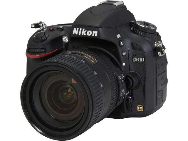 Nikon D610 13305 Black 24.3 MP Digital SLR Camera Kit w/ 24-85mm VR Lens