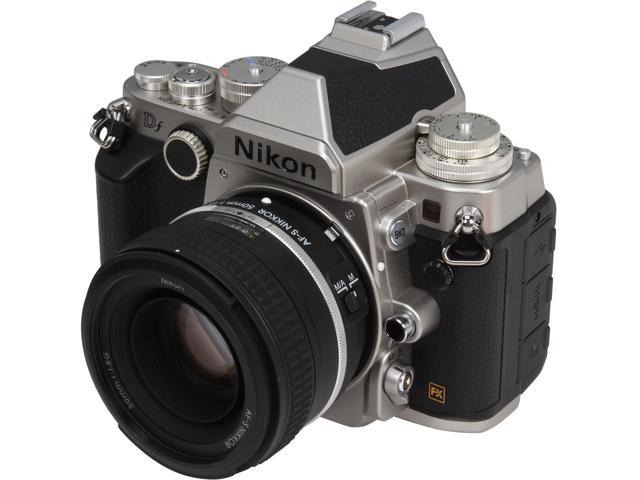 Nikon Df 1528 Silver 16.2 MP Digital SLR Camera with 50mm f/1.8 Lens