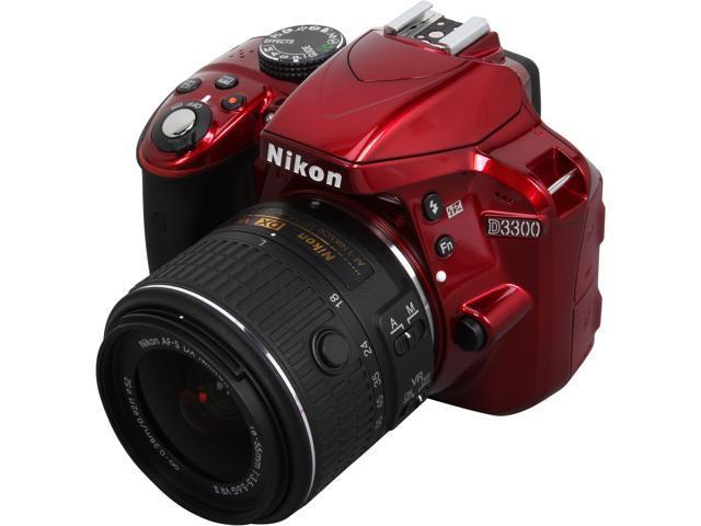 Nikon D3300 1533 Red 24.2 MP Digital SLR Camera with 18-55mm VR Lens