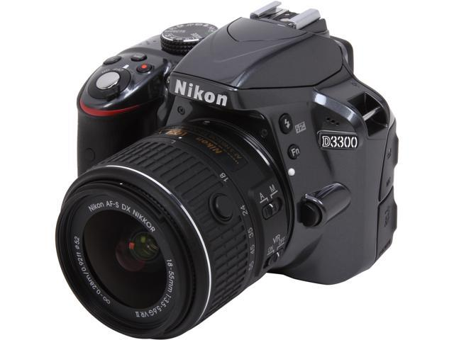 Nikon D3300 1534 Gray 24.2 MP Digital SLR Camera with 18-55mm VR Lens