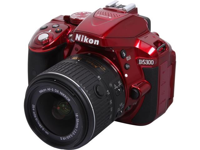 Nikon D5300 1523 Red 24.2 MP Digital SLR Camera with 18-55mm Lens