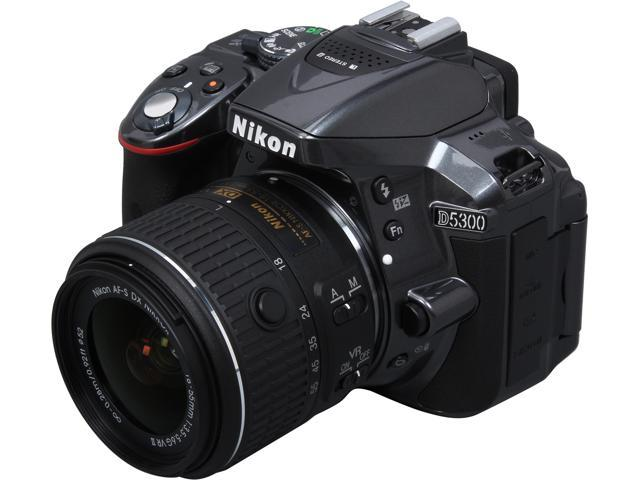 Nikon D5300 1524 Gray 24.2 MP Digital SLR Camera with 18-55mm Lens