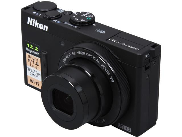 Nikon COOLPIX P340 26459 Black 12.2 MP 5X Optical Zoom 24mm Wide Angle Digital Camera HDTV Output
