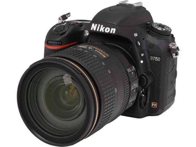 Nikon D750 1549 Black 24.3 MP Digital SLR Camera with 24-120mm VR Lens