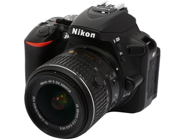 Nikon D5500 1546 Black 24.2 MP Digital SLR Camera with 18-55mm VR II Lens
