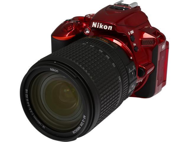 Nikon D5500 1552 Red 24.2 MP Digital SLR Camera with 18-140mm VR Lens