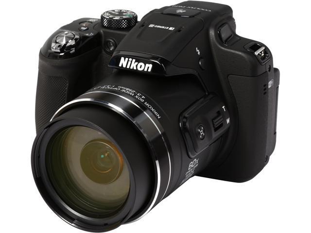 Nikon COOLPIX CP610 26488 Black 16.00 MP 60X Optical Zoom 24mm Wide Angle Digital Camera