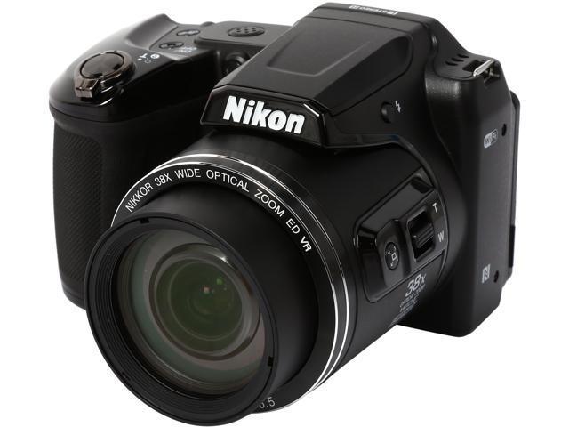 Nikon COOLPIX L840 26485 Black 16.00 MP 38X Optical Zoom Wide Angle Digital Camera